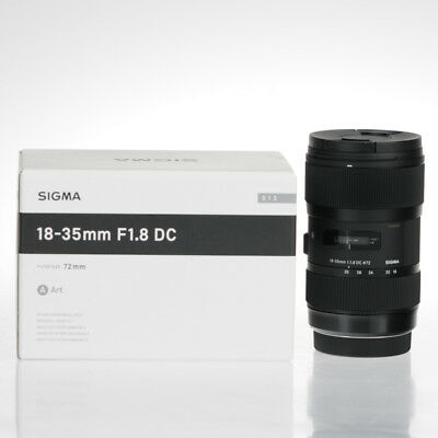 Sigma Art 18-35mm f/1.8 DC HSM Lens For Canon Mount New