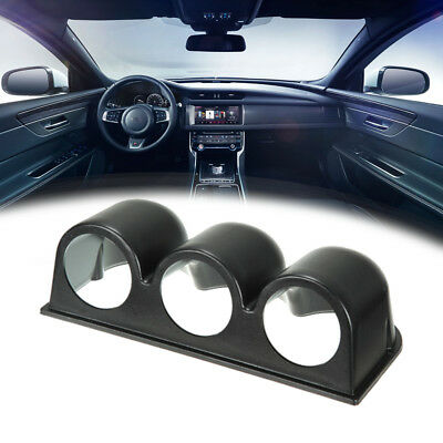 "BLACK UNIVERSAL 2"" 52mm TRIPLE 3 GAUGE HOLDER METER POD DASH MOUNT CAR AUTO AU"