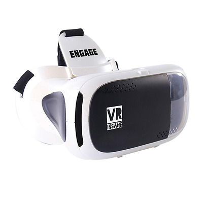 VR Insane Engage Virtual Reality Headset for Smartphones (White)