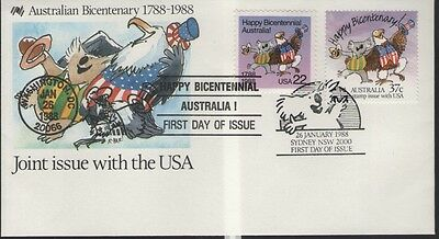 Australia Joint Issue With With Usa  First Day Cover Free P&p