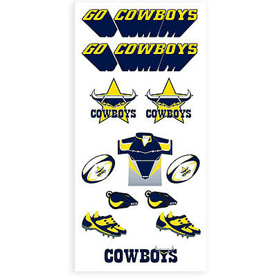North Queensland Cowboys NRL Tattoo Sheet **NRL Official Merchandise**