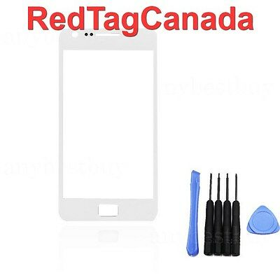 Digitizer Touch Screen Outer Glass for Samsung i9100 Galaxy S2 II White + Tools