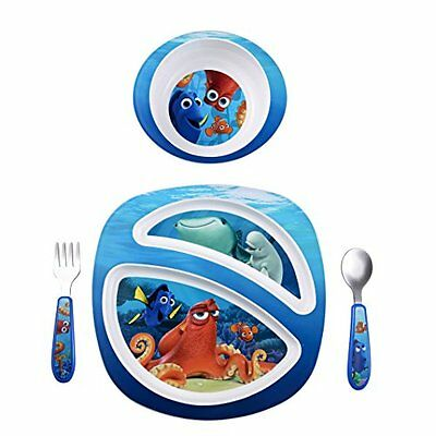 Finding Dory Toddler Dish Set Feeding Kid Baby Bowl Plate Fork Spoon 4 Pieces