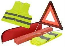 EU Emergency Reflective Warning Triangle Sign and Safery Vest - BARGAIN ---£3