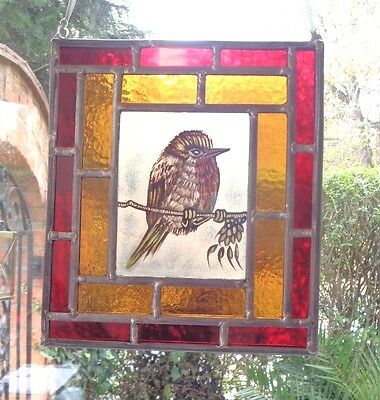 Kiln Fired Traditionally Hand Painted Stained Glass Panel