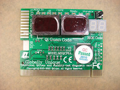 3 in 1 Motherboard Diagnostic Card Stability Test 6-bit