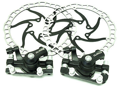 Clarks CMD-16 Mechanical Disc Brake Set with rotors and Bolts Brand New