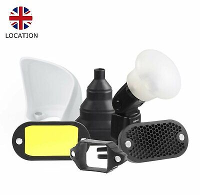 Selens Magnetic Flash Light Control Kit Honeycomb Grid Sphere Bounce Gel UK