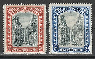 Bahamas 1901 Queen's Staircase 5D And 2/- Wmk Crown Cc