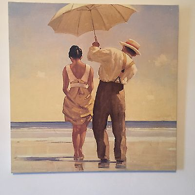 'Mad Dogs (Detail)' 60x60 - High Quality Print on Canvas.  Jack Vettriano.