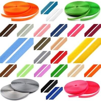 1m Hook and Loop Fastening Tape Band Sew On Touch Fastener 20 mm Various Colours