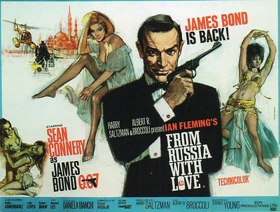 New unused Postcard: James Bond, From Russia With Love 1963