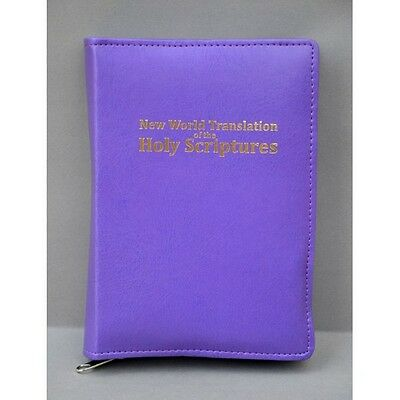 New World Translation Zipped Bible Cover Jehovah's Witness - purple