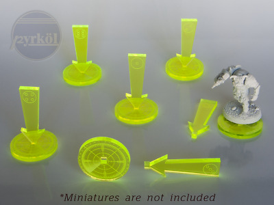 Pyrkol Numbered Objective Markers for Warhammer 40K 8th Terrain Space Marine Tau
