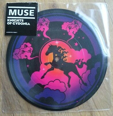 "RARE Original Muse Knights of Cydonia 7 Inch 7"" Vinyl Record Picture Disc Single"