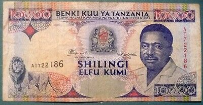 Tanzania 10000 10 000 Shillingi Note From 1995,  P 29