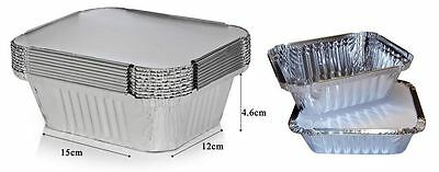 9 Silver Foil Food Trays With Lids Serving Takeaway Dish Catering Disposable