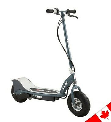 Razor Electric E300 Scooter Gray Kick Brake Rechargeable Battery Powered Toy NEW