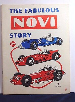 1964 THE FABULOUS NOVI STORY - INDY 500 RACE CARS 4th Printing 70-pgs + Suppl'mt