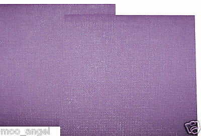 5 sheets of dusky purple paper weave pattern A4 for backing paper crafts scraps