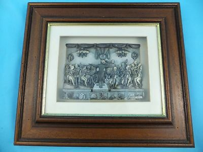 Vintage Anton Pieck Framed Picture - 3D Shadow Box Art Orchestra RARE
