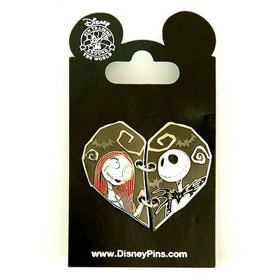 Disney Parks Nightmare Before Christmas Sally And Jack Heart Pin