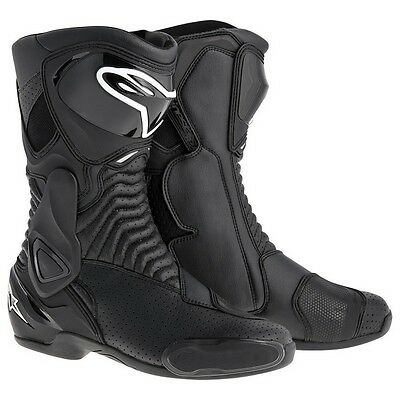 2014 Alpinestars Mens SMX-6 Motorcycle Race Boots Black Vented Size 40
