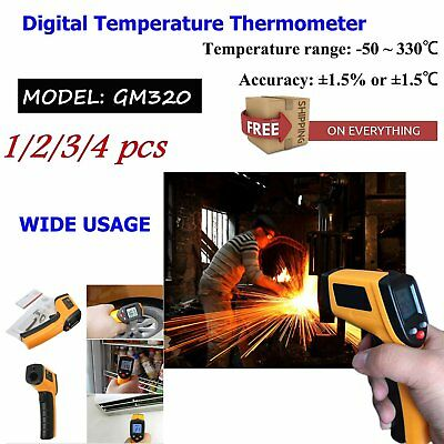 4 PCS Nice Non-Contact LCD IR Laser Infrared Digital Temperature Thermometer CW