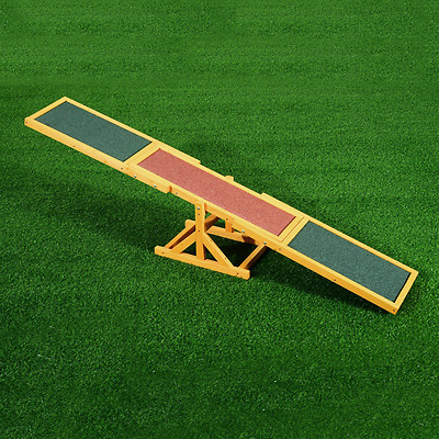 PawHut 1.8m Wooden Pet Seesaw Activity Sport Dog Training Agility Obedience Equi