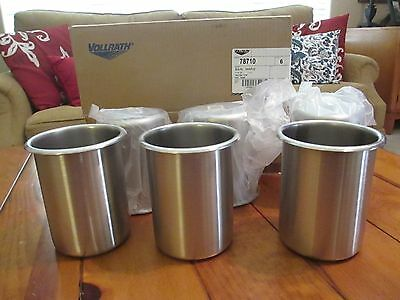 """Vollrath Bain Marie 1.25 Quart (1.2 L) Stainless Steel -Lot of 6 """"BRAND NEW"""""""
