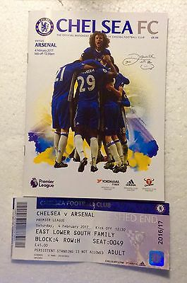 CHELSEA v ARSENAL official MINT Programme & Ticket. 2026/17