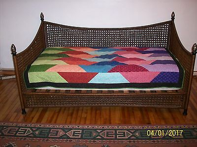 Wood And Wicker Frame Queen Daybed