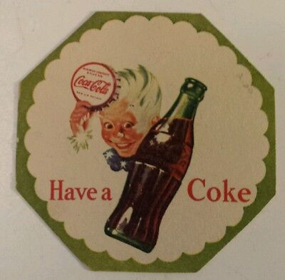 "Scarce American ""coca-Cola - Have A Coke"" Advertising Drink Coaster - Excellent"