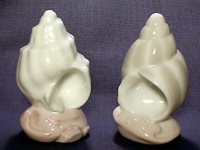 """Porcelain Sea Shell Salt & Pepper Shakers """"by The Sea"""" Series By Roman New"""