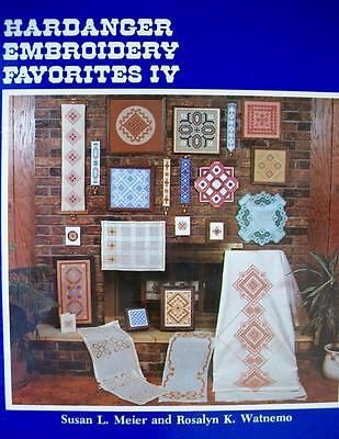 Vintage 1982 Hardanger Embroidery Favorites IV-Detailed Designs-Meier/Watnemo