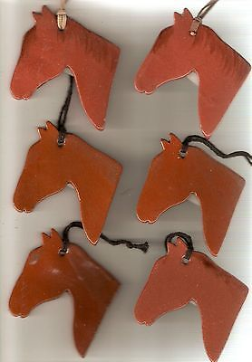 Set of 9 Chesnut Brown Horse Head Ornaments
