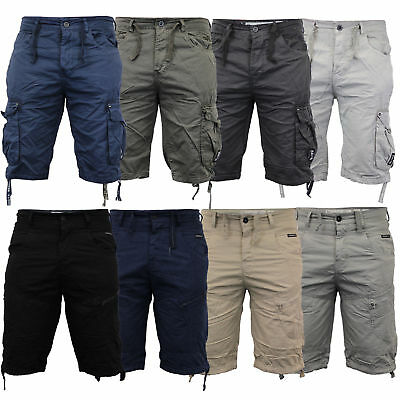 Mens Cargo Combat Shorts Summer Chino Casual Work Knee Length Pants Size 30-48