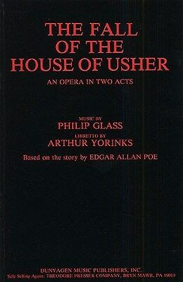 Glass The Fall Of The House Of Usher (e) Libretto. Opera Sheet Music