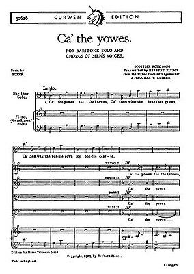 Vaughan Williams: Ca' The Yowes To The Knowes (Bar/TTBB)  Choral Sheet Music