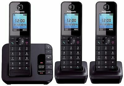 Panasonic KX-TGH223 Digital Cordless Phone Pack of 3