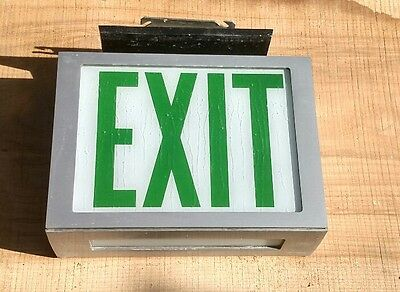 "Reclaimed Vintage Industrial MC Philben made ""EXIT"" lit sign Hospital"