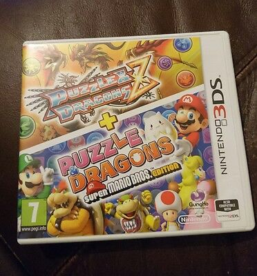 Nintendo 3DS Puzzle & Dragons Z + Puzzle & Dragons super mario edition box only