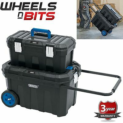Large Mobile Contractors Chest And Tool Box Ideal Plumer Electicians Mechanics