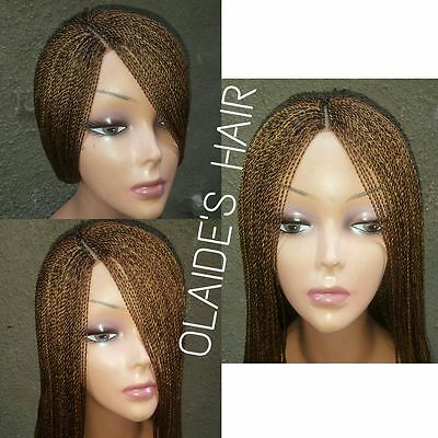 Hand braided, micro twist wig million braids -28 inches long back - professional