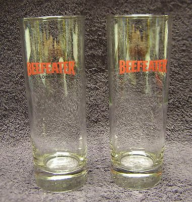 2 Beefeater Gin Logo Tall Highball Cocktail Glasses