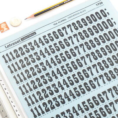 Letraset PLAYBILL NUMERALS 7739 72pt/20mm Rub On Transfer Lettering +%DISCOUNTS