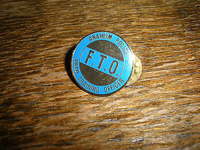 Anaheim Police FTO Hat Lapel Pin
