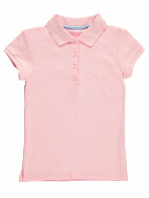 Nautica Big Girls' Knit Polo with Picot Collar (Sizes 7 - 16)
