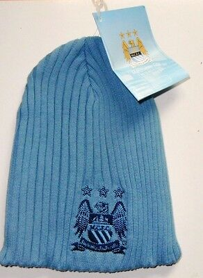 Manchester City Beanie Woolly Winter Hat,  100% Official