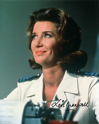 Lois Maxwell - Miss Moneypenny - James Bond - Signed Autograph REPRINT